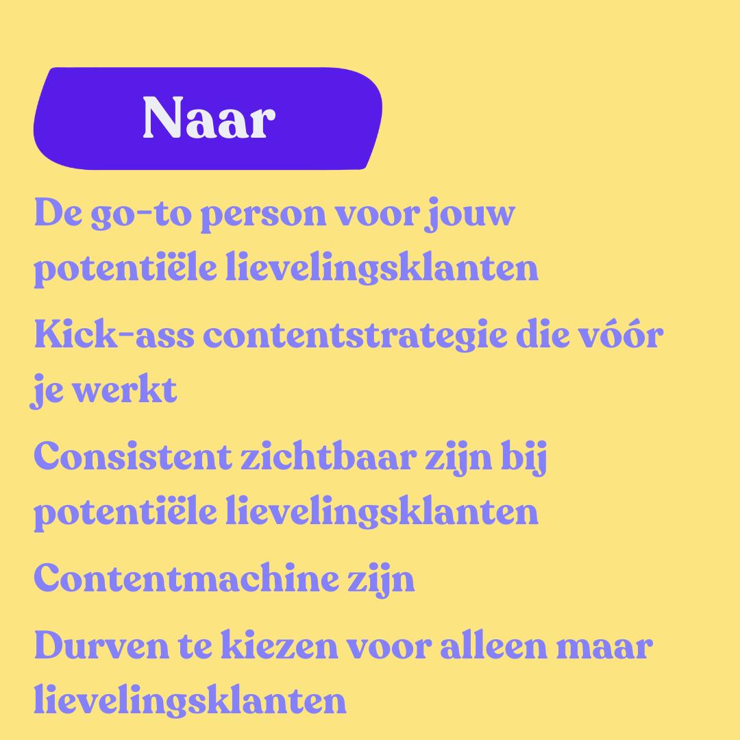 Kick-ass Content Groepstraject